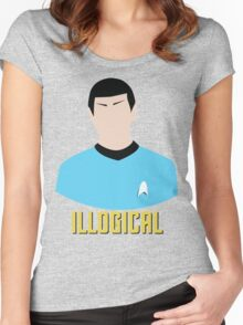 Illogical Spock Star Trek Portrait Women's Fitted Scoop T-Shirt