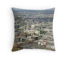 St Paul's Cathedral & the City of London, seen from the top of the Shard (UK) Throw Pillow