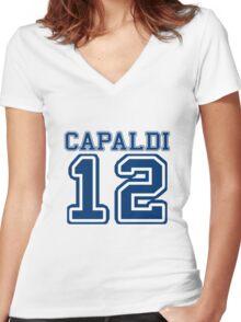 Team TARDIS: 12 Women's Fitted V-Neck T-Shirt