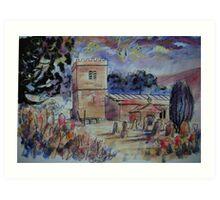 'St Michael & All Angels, Hubberholme, Yorkshire Dales' Art Print