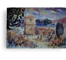 'St Michael & All Angels, Hubberholme, Yorkshire Dales' Canvas Print
