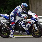 "#99 PJ ""Paddy"" Jacobsen (USA) - Practice Start out of Stirlings - Tyco Suzuki GSX-R1000 - BSB 2013 Brands Hatch by motapics"