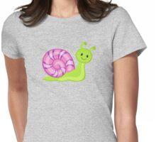 Cute cartoon snail Womens Fitted T-Shirt