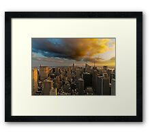 Top of the Rock Sunset After Storm Framed Print