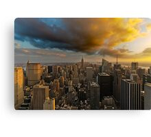 Top of the Rock Sunset After Storm Canvas Print