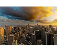Top of the Rock Sunset After Storm Photographic Print