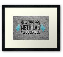 Heisenbergs Meth Lab Framed Print