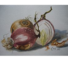 Knowing your Onions Photographic Print