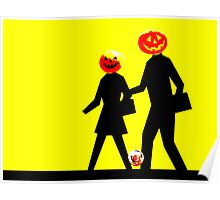 Trick or Treat Crossing Poster