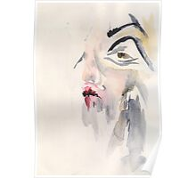 Watercolour Woman Poster
