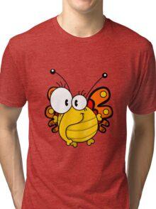 Cartoon butterfly Tri-blend T-Shirt