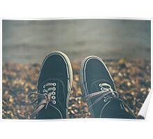 Vans and the Beach Poster