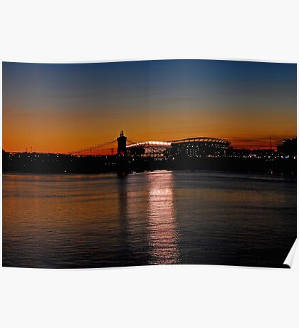 Sunset on Paul Brown Stadium Poster