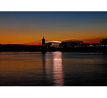 Sunset on Paul Brown Stadium Photographic Print