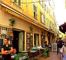 Eating In The Old Town Of Nice by Fara