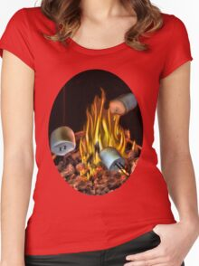 ☝ ☞ TOASTING MARSHMALLOW TEE SHIRT☝ ☞ Women's Fitted Scoop T-Shirt