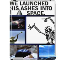 space burial iPad Case/Skin