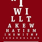 Game of Thrones, Eye Chart by Alex Boatman