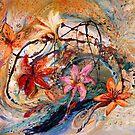 The Splash Of Life 17. Humming-bird and exotic flowers by Elena Kotliarker