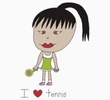 I love tennis One Piece - Long Sleeve