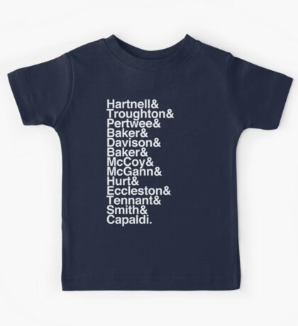 All Doctor - Hartnell to Capaldi, With Hurt Kids Tee