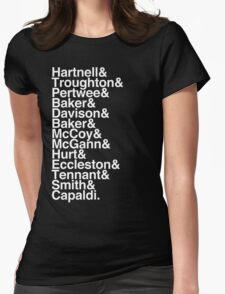 All Doctor - Hartnell to Capaldi, With Hurt Womens Fitted T-Shirt