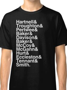 All Doctor - Hartnell to Smith, Whit Hurt Classic T-Shirt