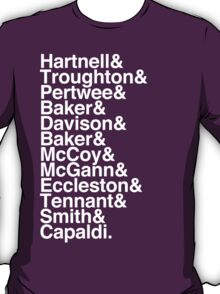 All Doctor - Hartnell to Capaldi, Without Hurt T-Shirt