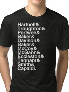 All Doctor - Hartnell to Capaldi, Without Hurt Tri-blend T-Shirt