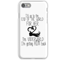 Captain Swan Love quote iPhone Case/Skin