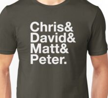 Eccleston, Tennant, Smith, Capaldi Unisex T-Shirt
