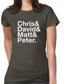 Eccleston, Tennant, Smith, Capaldi Womens Fitted T-Shirt