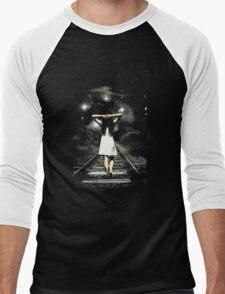 Walking Girl  Men's Baseball ¾ T-Shirt