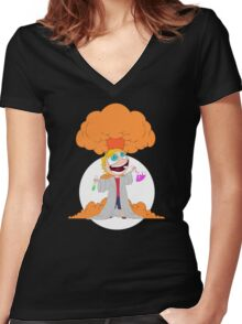 Science goes Boom! Women's Fitted V-Neck T-Shirt