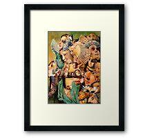 Raphael with Fans 2. Framed Print