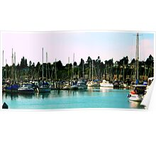 Squalicum Harbor Boats Poster