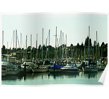Harbor Boats Poster
