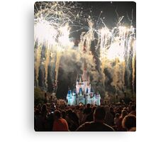 The Magic Kingdom at Night Canvas Print