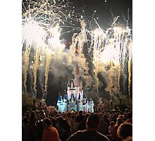 The Magic Kingdom at Night Photographic Print