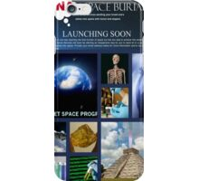 DNA space burial iPhone Case/Skin