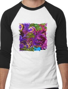 0029 Abstract Design Men's Baseball ¾ T-Shirt