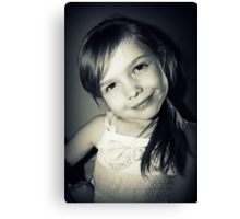 Little Miss Canvas Print