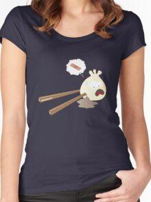 Dumpling hurt by chopsticks Women's Fitted Scoop T-Shirt