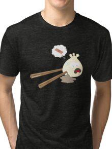 Dumpling hurt by chopsticks Tri-blend T-Shirt