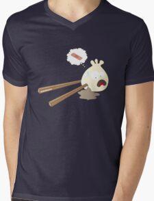 Dumpling hurt by chopsticks Mens V-Neck T-Shirt