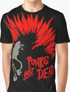 Retro Punk Restyling Punks Not dead Graphic T-Shirt