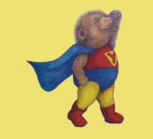 Super Hero Yoga Bear Kids Tee