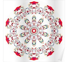 Ribbon Pattern Kaleidoscope 001 Poster