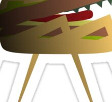 Burger Monster Sticker