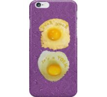yuck yuck YOLK * iPhone Case/Skin
